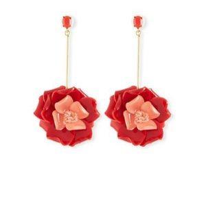 Oscar de la renta petunia drop earrings